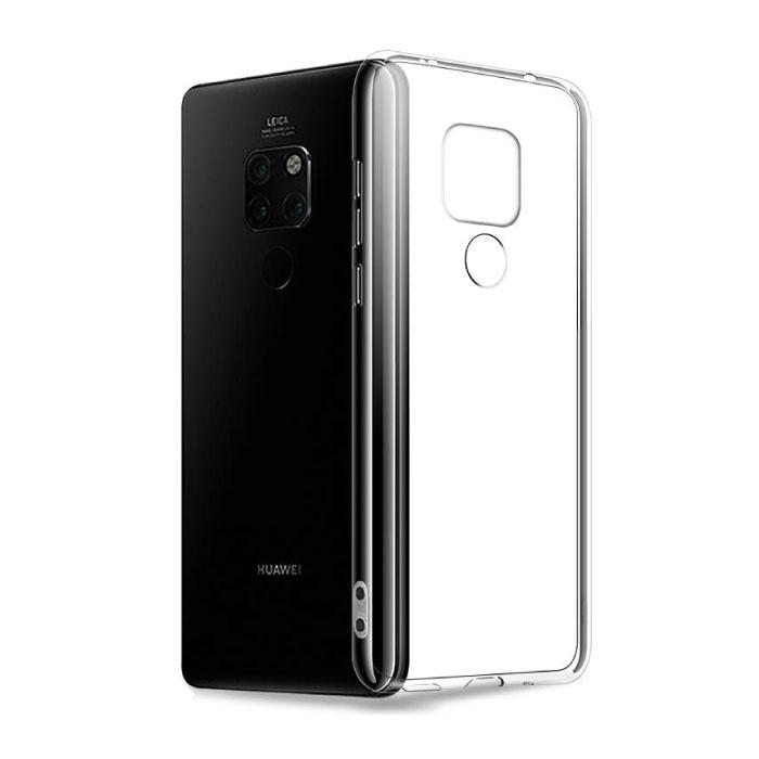 Huawei Mate 20 X Transparent Clear Case Cover Silicone TPU Case