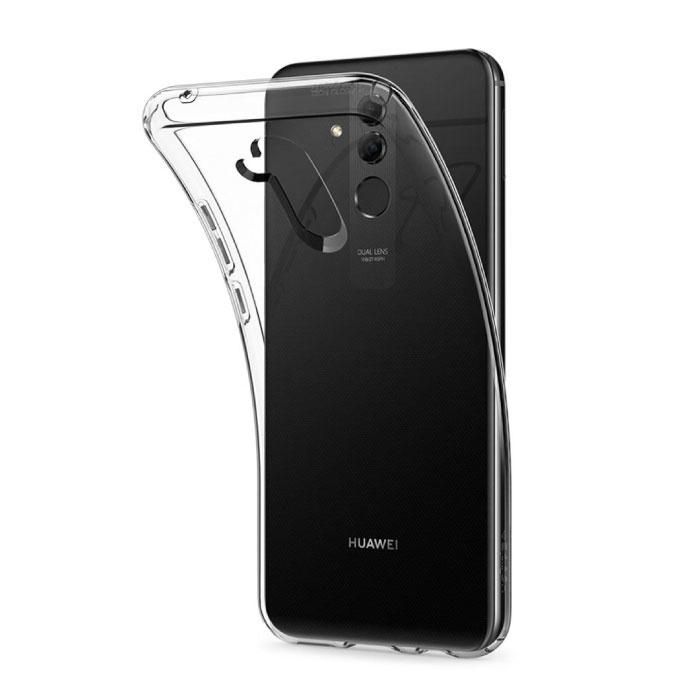 Huawei Lite 20 clair maté silicone transparent de couverture de cas TPU