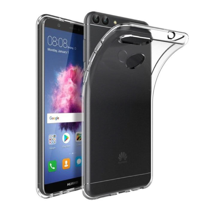 Huawei P Smart Transparent Clear Case Cover Silicone TPU Case