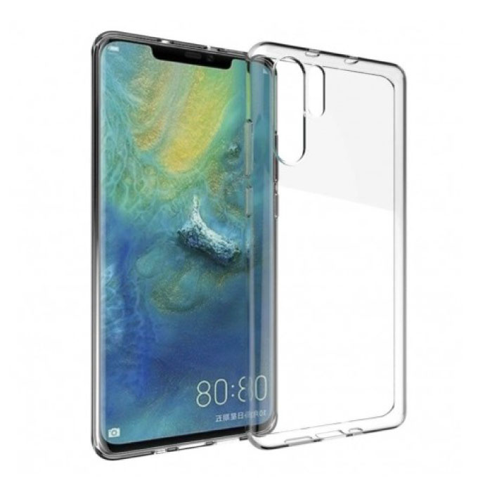 Huawei P30 Pro Transparent Clear Case Cover Silicone TPU Case
