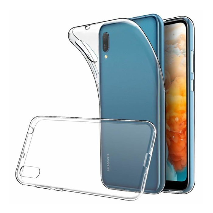 Huawei Y5 2019 Transparent Clear Case Cover Silicone TPU Case