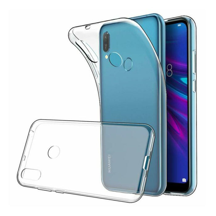 Huawei Y6 2019 Transparent Clear Case Cover Silicone TPU Case