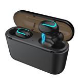 Stuff Certified® TWS AirPower Draadloze Bluetooth 5.0 Oortjes Air Wireless Pods Earphones Earbuds Zwart - Helder Geluid