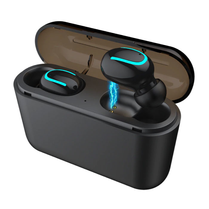 TWS AirPower Draadloze Bluetooth 5.0 Oortjes Air Wireless Pods Earphones Earbuds Zwart - Helder Geluid