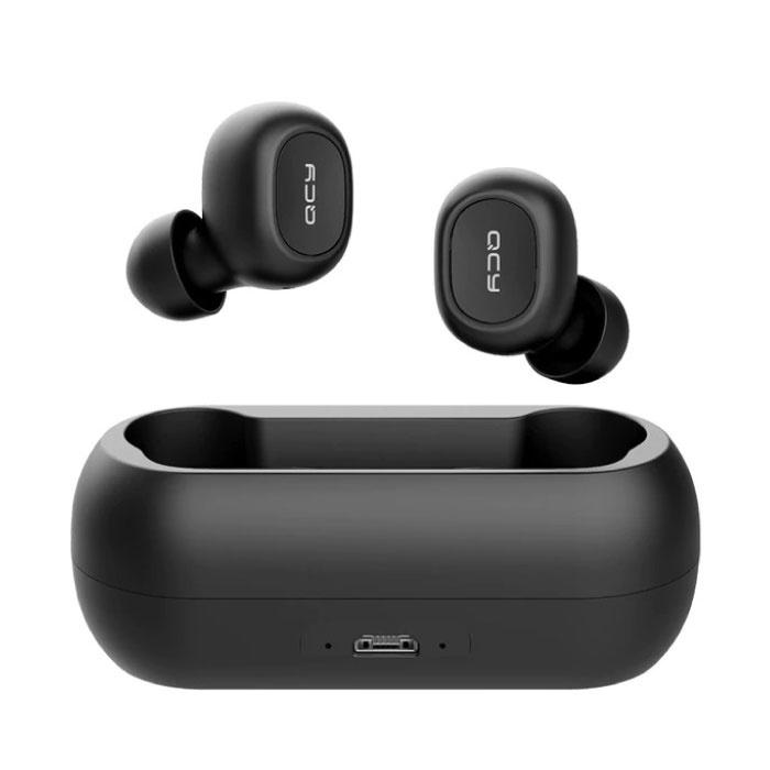 Qcy T1C sans fil Bluetooth 5.0 sans fil Cosses oreilles air écouteurs écouteurs Noir - Clear Sound