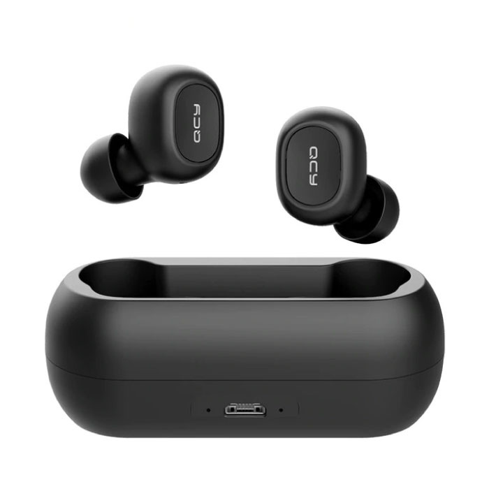 QCY T1C Wireless Bluetooth 5.0 Wireless Pods Air Ears Earphones Earbuds Black - Clear Sound