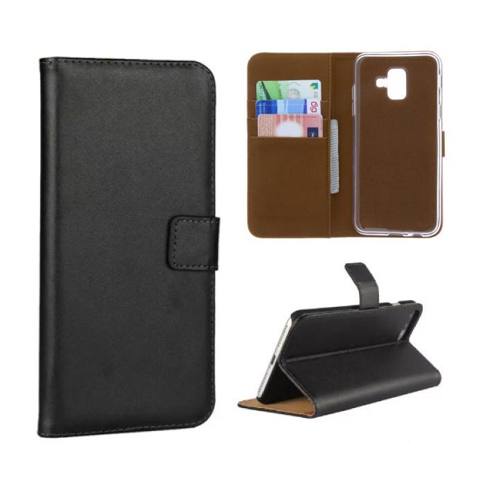 Samsung Galaxy S8 Plus - Porte-monnaie flip couverture de cas de Cas Cas noir de portefeuille