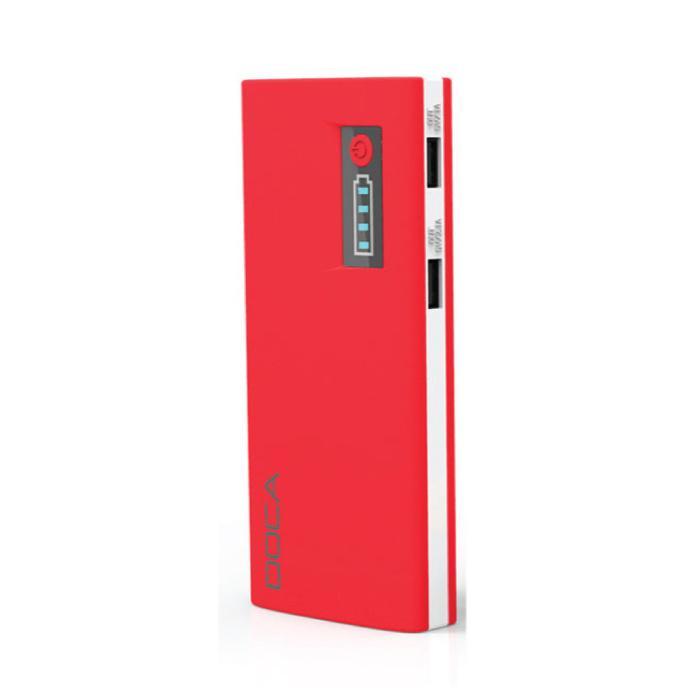 Originele DOCA D566A 13000mAh Powerbank Noodaccu Oplader Rood