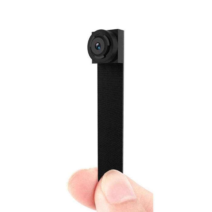 Mini caméra de sécurité HD 1080p alarme détecteur de mouvement noir
