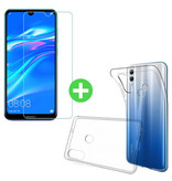 Stuff Certified® Huawei Y7 2019 Transparant TPU Hoesje + Screen Protector Tempered Glass