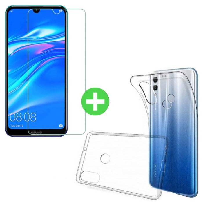 Huawei Y7 2019 Transparent TPU + écran protecteur en verre trempé