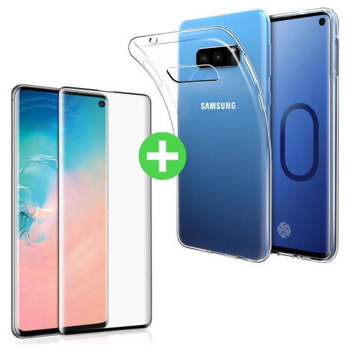 Samsung Galaxy S10e Transparent TPU Case + Screen Protector Tempered Glass