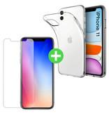 Stuff Certified® iPhone 11 Transparent TPU Case + Screen Protector Tempered Glass