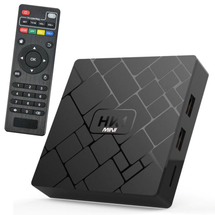 HK1 Mini 4K TV Box Mediaspeler Android Kodi - 2GB RAM - 16GB Opslagruimte