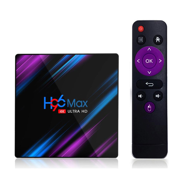 H96 Max 4K TV Box Mediaspeler Android Kodi - 4GB RAM - 64GB Opslagruimte