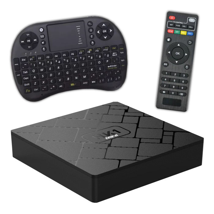 HC1 4K TV Mini Media Player Box Android Kodi - 2 Go de RAM - 16 Go de stockage + Clavier sans fil