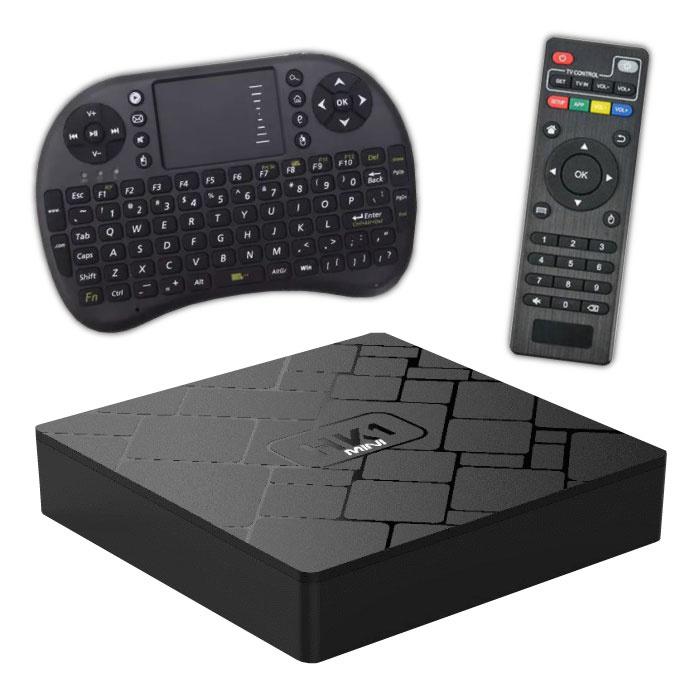 HK1 Mini 4K TV Box Media Player Android Kodi - 2 GB RAM - 16 GB Speicher + drahtlose Tastatur
