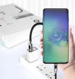 iHaitun Charging Cable USB C 1,8 metre Charge rapide 4,0 Nylon Tressé de charge Cable Android Noir