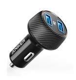ANKER PowerDrive 2 Elite Dual Port Car Charger / Carcharger - Noir