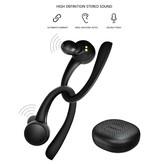 Caletop Sport TWS Draadloze Smart Touch Control Oortjes Bluetooth 5.0 Air Wireless Pods Earphones Earbuds 400mAh Zwart
