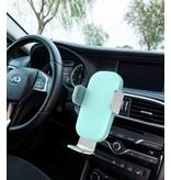 Stuff Certified® Qi Chargeur sans fil 15W Chargeur universel 9V - 1.67A voiture sans fil de charge Pad blanc