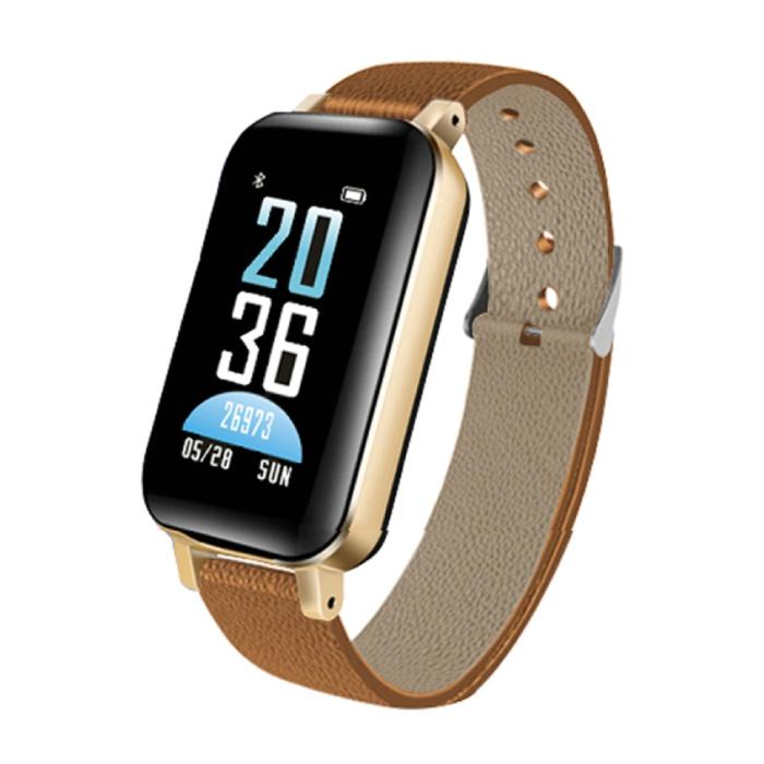T89 SmartWatch Activité Tracker + TWS écouteurs sans fil sans fil écouteurs Sport Fitness iOS Android Brown
