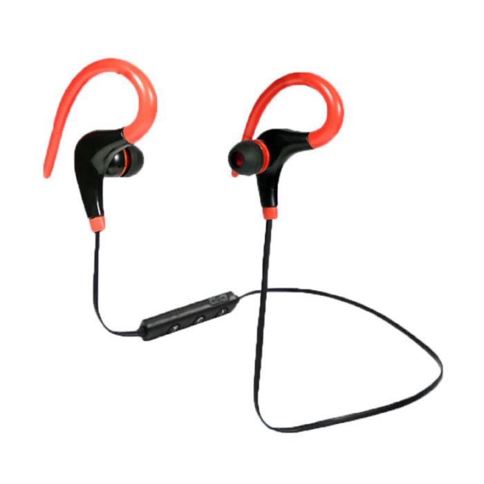 Wheeler TWS sans fil Bluetooth 5.0 Earpieces sans fil Cosses écouteurs Air Earbuds Red 50mAh
