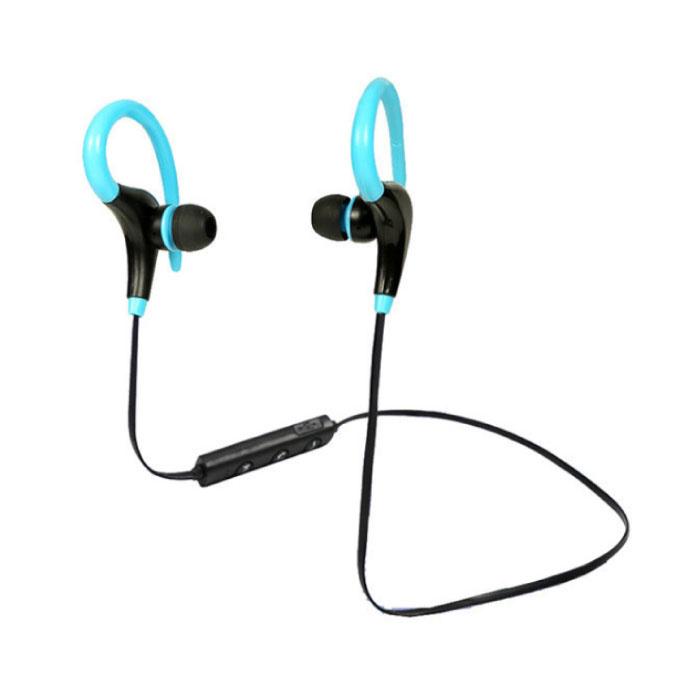 Wheeler TWS sans fil Bluetooth 5.0 Earpieces sans fil Cosses écouteurs Air Oreillettes Bleu 50mAh