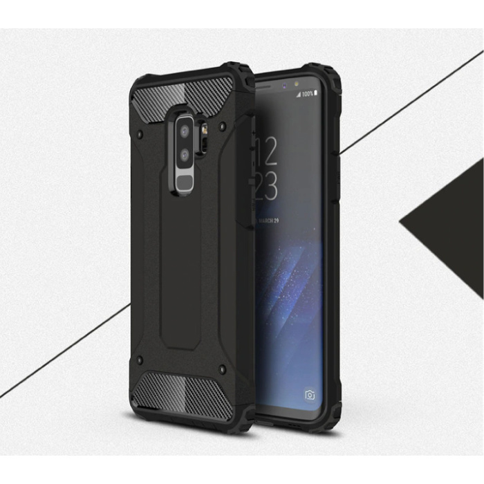 Samsung Galaxy S6 Edge - Armor Case Cover Cas TPU Hoesje Zwart