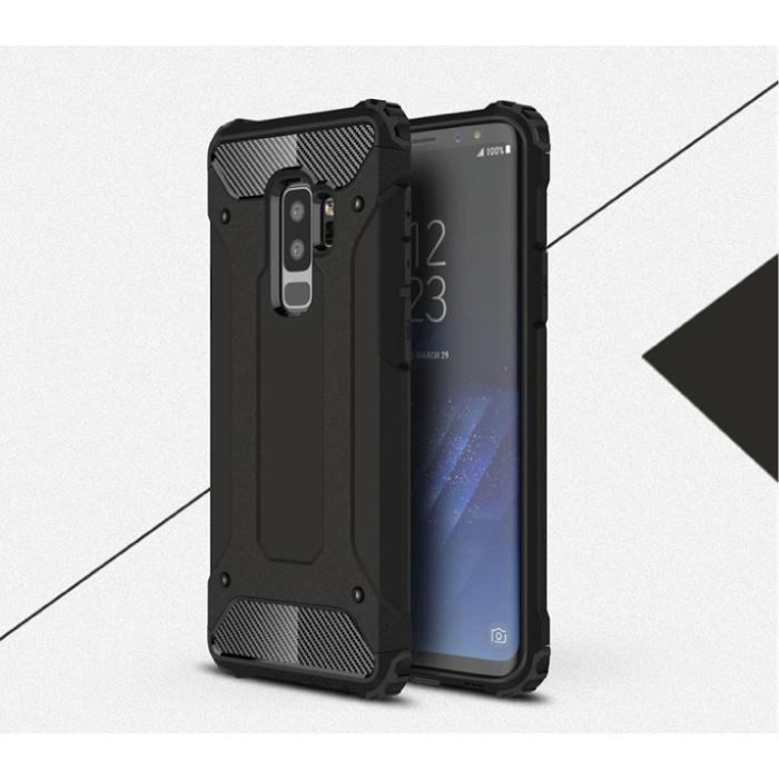 Samsung Galaxy S6 Edge - Rüstung Gehäuseabdeckung Cas TPU Hülle Schwarz