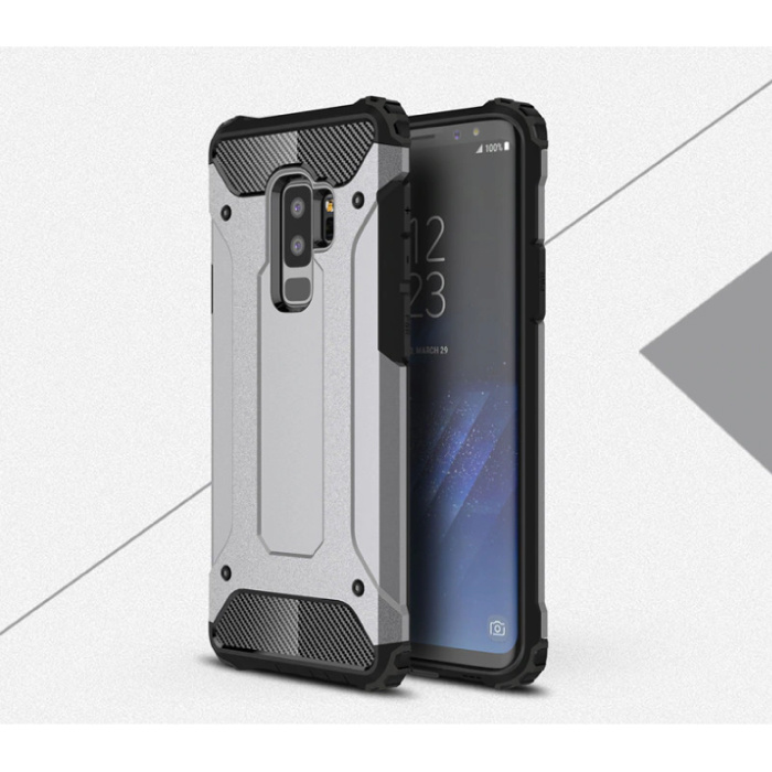 Samsung Galaxy S6 Edge - Armor Case Cover Cas TPU Case Gris