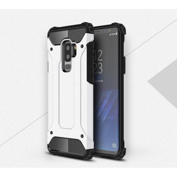 Samsung Galaxy A8 2018 - Armor Case Cover Cas TPU Case Blanc