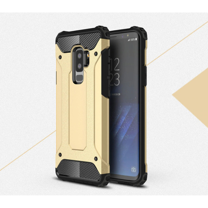 Samsung Galaxy S9 - Armor Case Cover Cas TPU Hoesje Goud