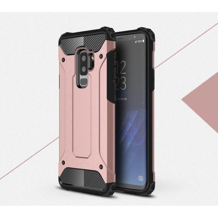 Samsung Galaxy A7 2018 A750 - Armure de couverture de cas Cas TPU Rose