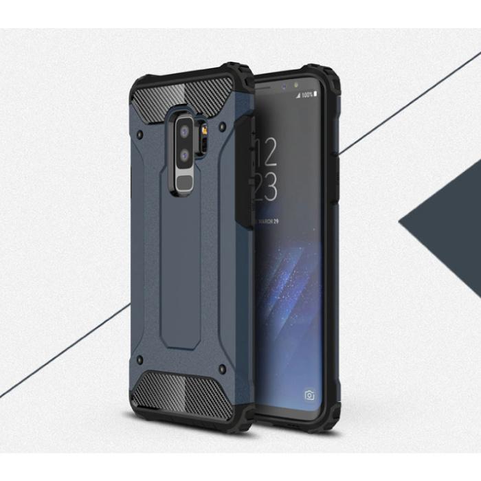 Samsung Galaxy A8 2018 - Armor Case Cover Cas TPU Case Navy