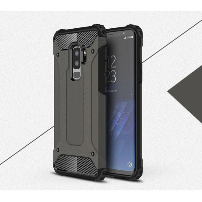 Samsung Galaxy S10 Plus - Armor Case Cover Cas TPU Hoesje Bronze