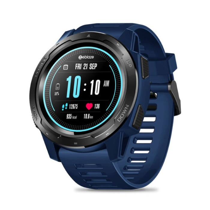 Vibe 5 Smartwatch Fitness Sport Activity Tracker Smartphone Horloge iOS Android iPhone Samsung Huawei Blauw