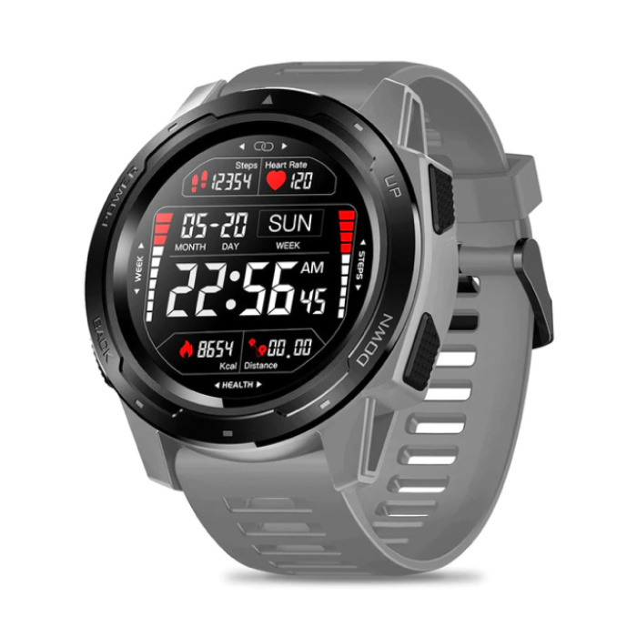 Vibe 5 Smartwatch Fitness Sport Activity Tracker Smartphone Horloge iOS Android iPhone Samsung Huawei Grijs