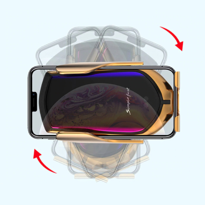 Stuff Certified® 10W Qi Wireless-Autoladegerät Universal-Ladegerät 9V - 1,67A Wireless-Autoladepad Gold