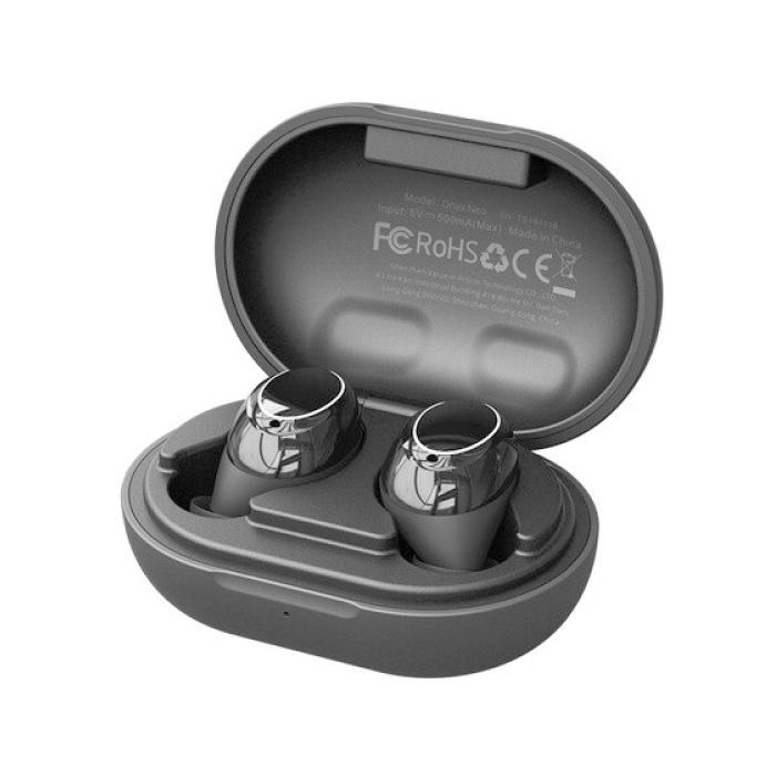 Onyx Neo Aptx TWS Écouteurs de contrôle tactile intelligents sans fil Bluetooth 5.0 Écouteurs intra-auriculaires sans fil Écouteurs Écouteurs 350mAh Noir