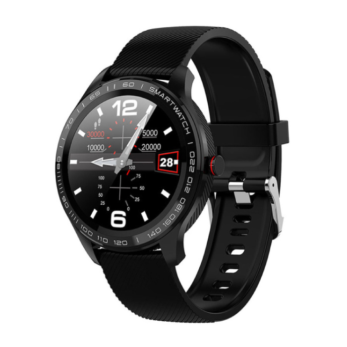 Sports Smartwatch Fitness Sport Activity Tracker Smartphone Watch iOS Android IP68 iPhone Samsung Huawei Black Silicone