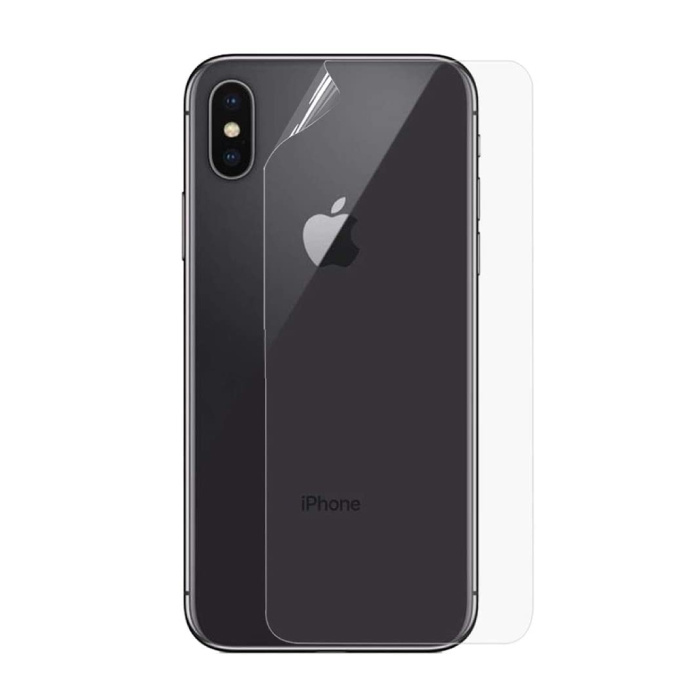 iPhone X Couverture arrière transparente TPU Foil Hydrogel Protector Protector Cover Case
