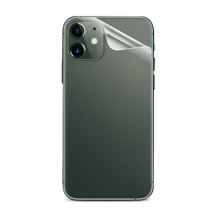 iPhone 11 Transparante Achterkant TPU Folie Hydrogel Protector Beschermer Cover Case