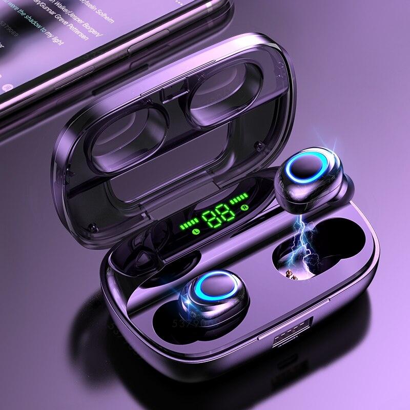 S11 TWS Draadloze Smart Touch Control Oortjes Bluetooth 5.0 Air Wireless Pods Earphones Earbuds 3500mAh Powerbank Zwart