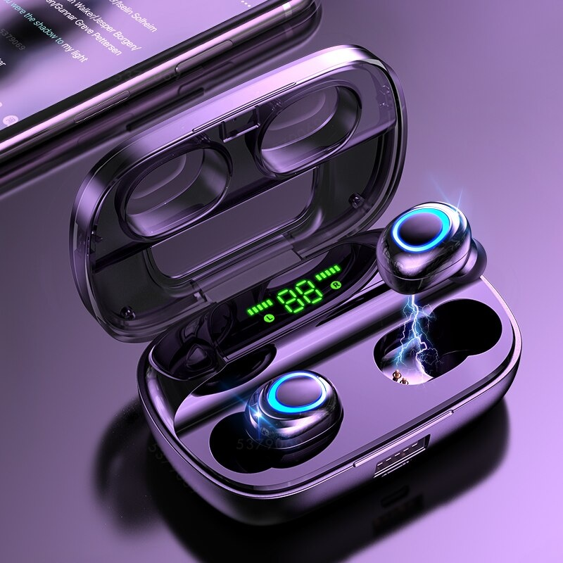 S11 TWS Wireless Smart Touch Control Earphones Bluetooth 5.0 Air Wireless Pods Earphones Earbuds 3500mAh Powerbank Black