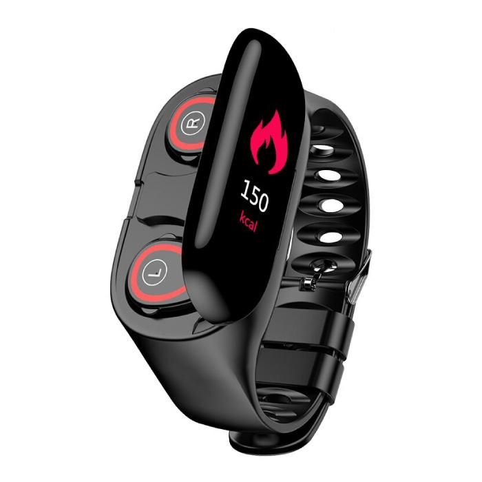 M1 Sports Smartwatch + TWS Wireless Earpieces Earphones Built-in Fitness Sport Activity Tracker Smartphone Watch Ear Buds Earphone iOS Android