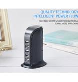 Stuff Certified® USB Laadstation Met Ingebouwde Beveiliging Camera 5-Port Muur Oplader Thuislader Stekkerlader