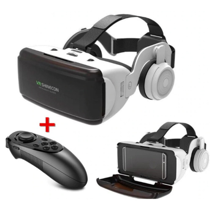 VR Virtual Reality 3D Glasses 90 ° With Bluetooth Remote Control for Smartphones