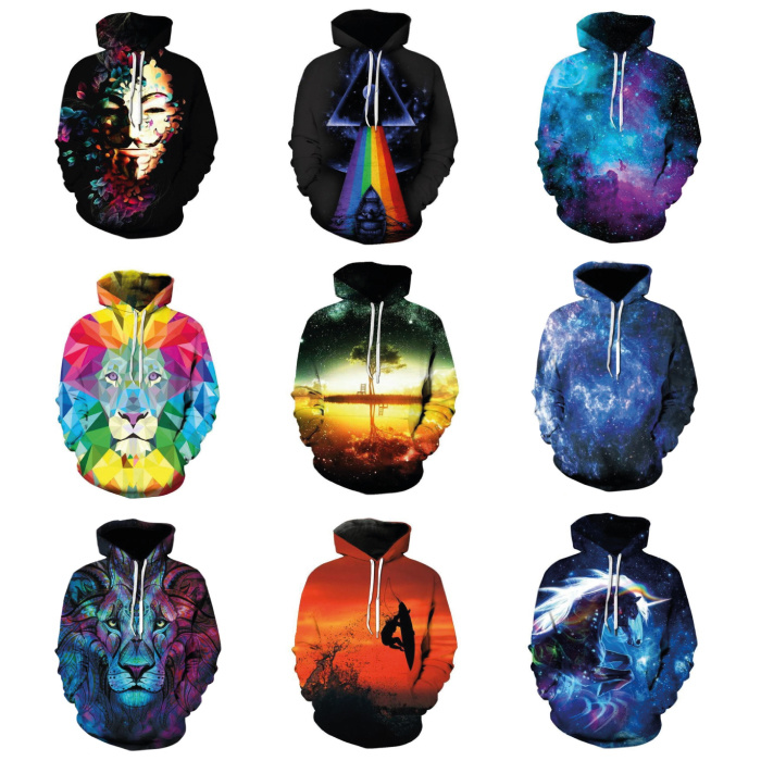Stuff Certified® Hoodie Sweater Trui met Kap (Medium) - Rainbow Print