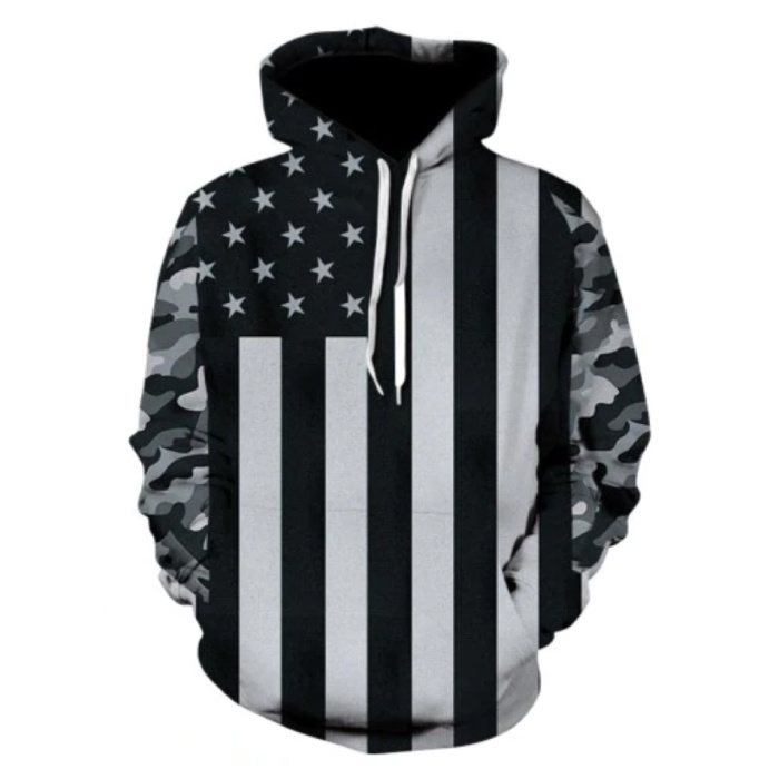 Hoodie Sweater Pullover with Hood (Large) - USA Print